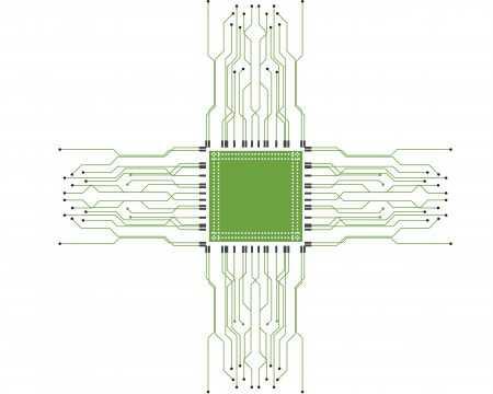 RF PCB Circuit Logo
