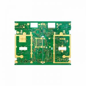 Communication electronics and base station PCB with gold finger