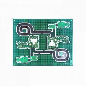 2 layer high quality HDI rigid flex PCB with 2 tier